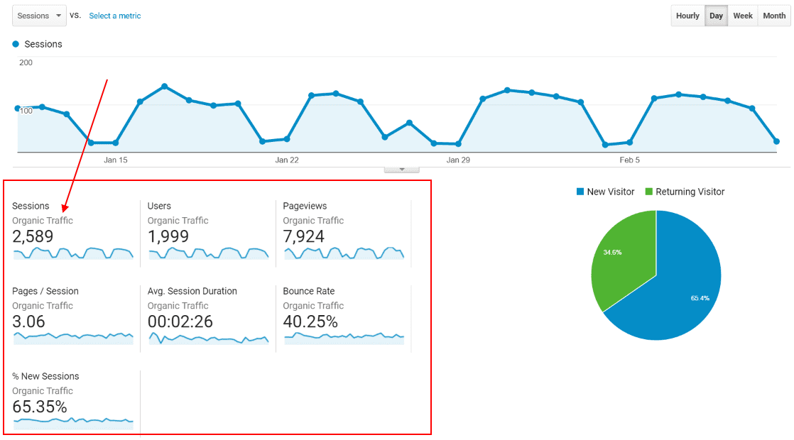 How to use the Segments report in Google Analytics - Step 3