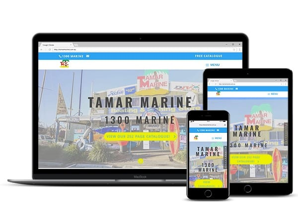 Tamar Marine Website Design by Tas Digital Marketing