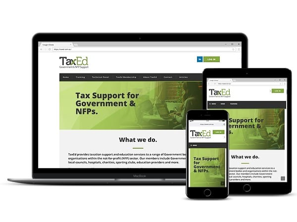 TaxEd Website Design by Tas Digital Marketing